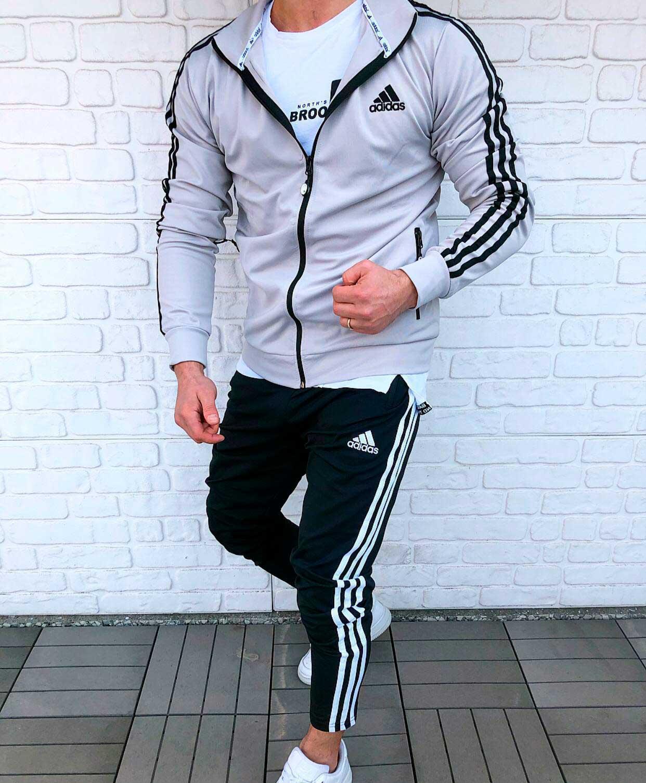 спортивный костюм серый футбольная форма адидас